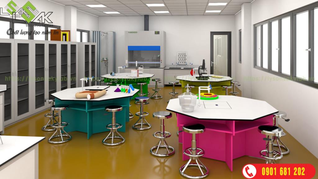 Phòng thí nghiệm với sắc màu tạo nên cảm hứng sáng tạo