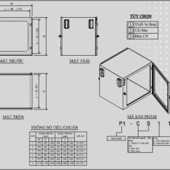 Bản vẽ kỹ thuật tủ chuyển mẫu passbox