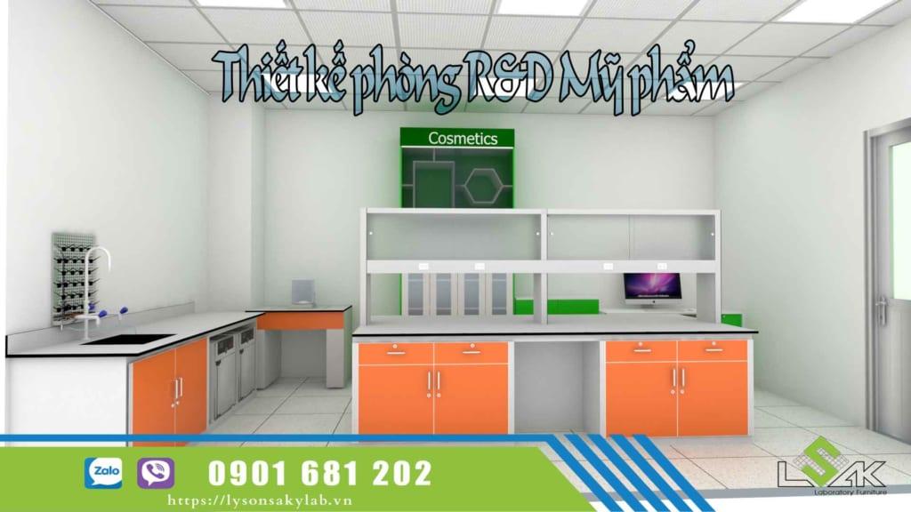 thiết kế phòng R&D mỹ phẩm