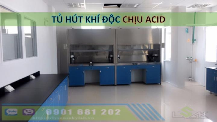 Tủ hút khí độc chịu acid