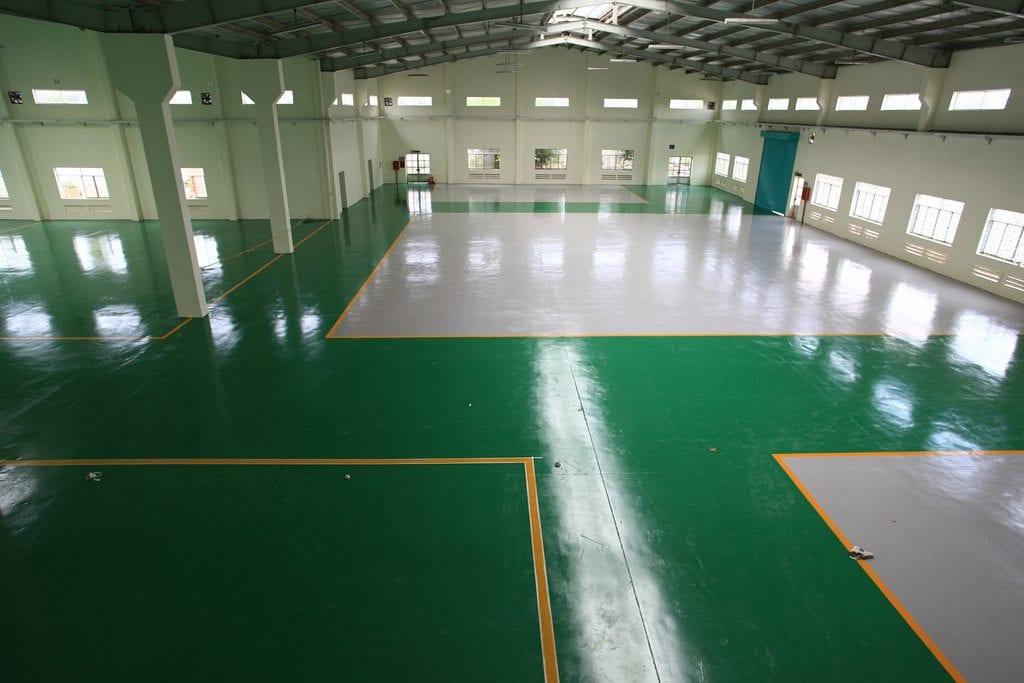 sơn epoxy sàn bê tông nhà xưởng