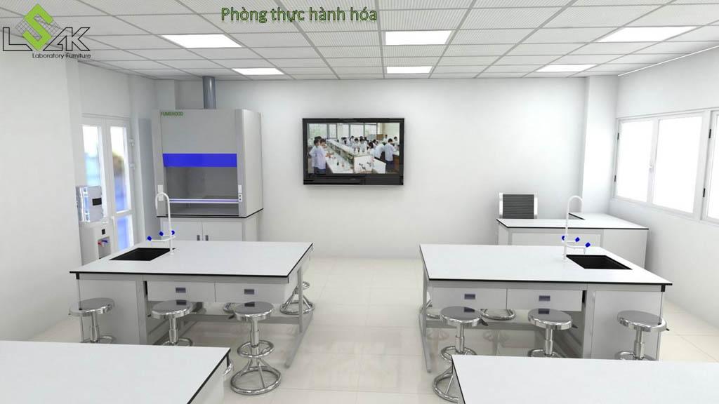 Nội thất phòng thí nghiệm hóa học