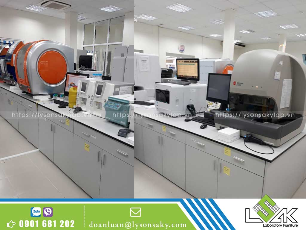 bàn thí nghiệm trung tâm, bàn đặt máy
