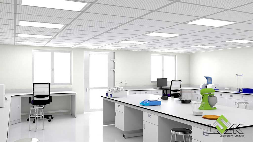 Phối cảnh 3D phòng lab Nhà máy Chế biến hạt điều Intersnack