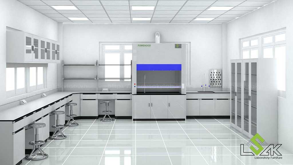 Lý Sơn Sa Kỳ Lab cung cấp trọn gói dịch vụ tư vấn, thiết kế và thi công nội thất phòng thí nghiệm