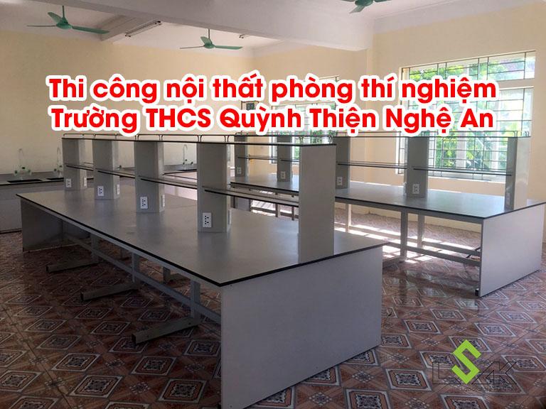 Thi công nội thất phòng thí nghiệm Trường THCS Quỳnh Thiện Nghệ An