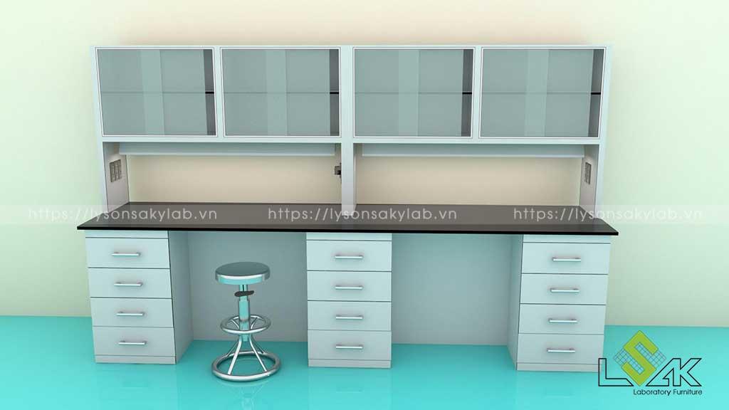Thiết kế nội thất bàn thí nghiệm công ty Rohto