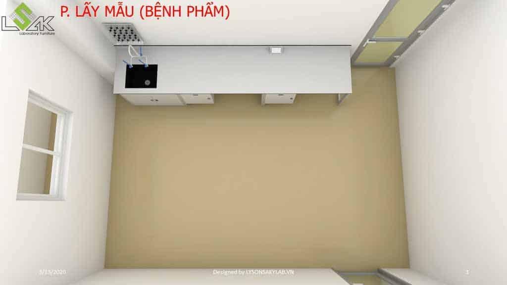 Thiết kế phòng khám đa khoa phòng lấy mẫu bệnh phẩm