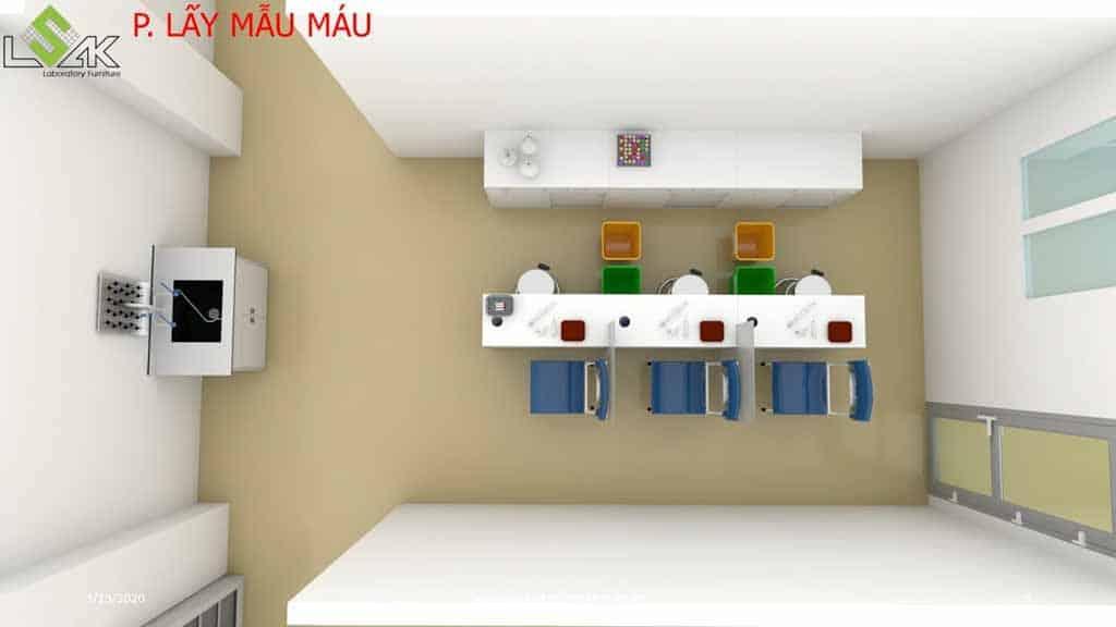 Thiết kế phòng khám đa khoa phòng lấy mẫu máu