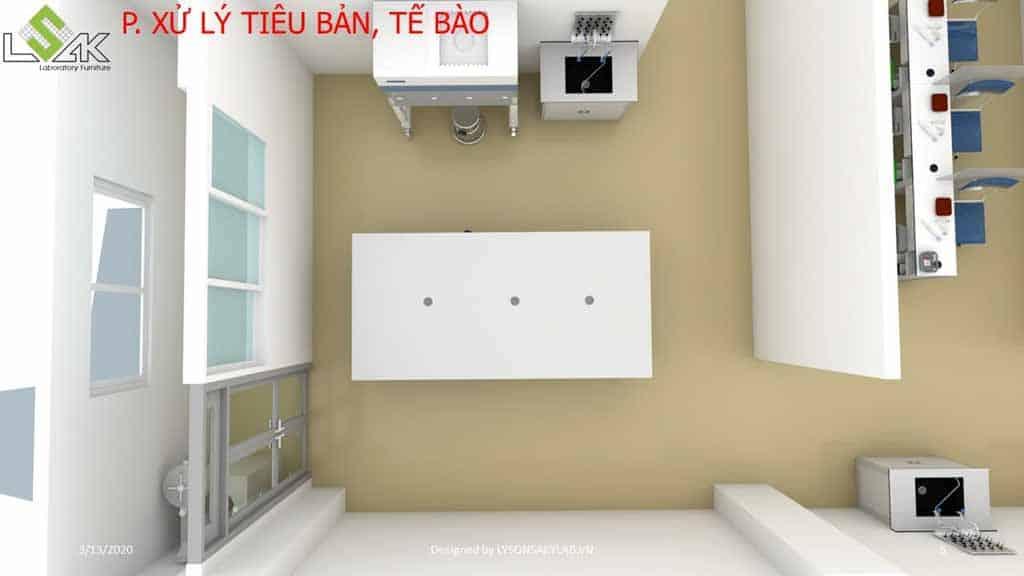 Thiết kế phòng khám đa khoa phòng xử lý tiêu bản tế bào