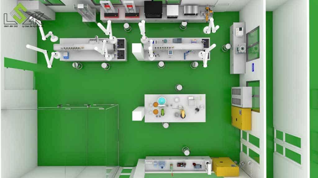 Thiết kế phòng thí nghiệm công ty keo dính