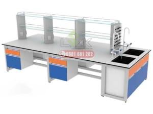 Thiết kế cung cấp nội thất bàn thí nghiệm trung tâm
