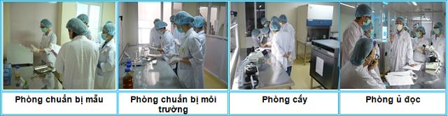 Hình ảnh khu vực thử nghiệm vi sinh tại Trung tâm VAIQ Cần Thơ