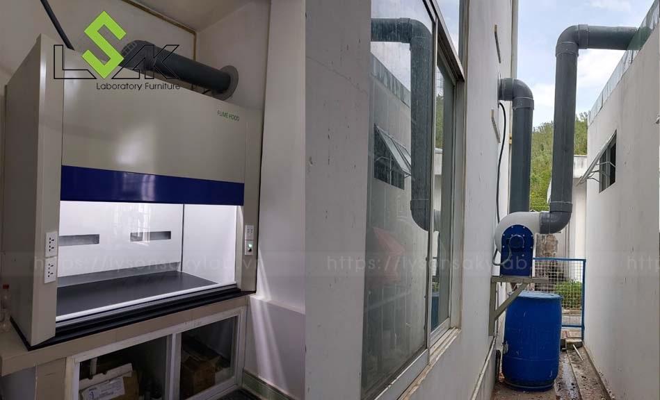 Thi công lắp đặt tủ hút khí độc tại Long An