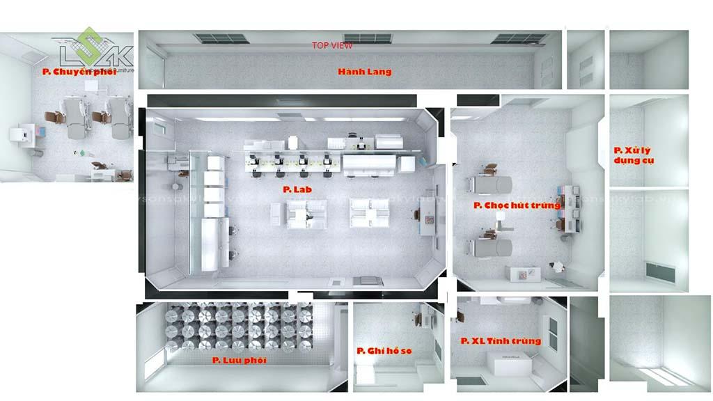 Thiết kế phòng lab IVF