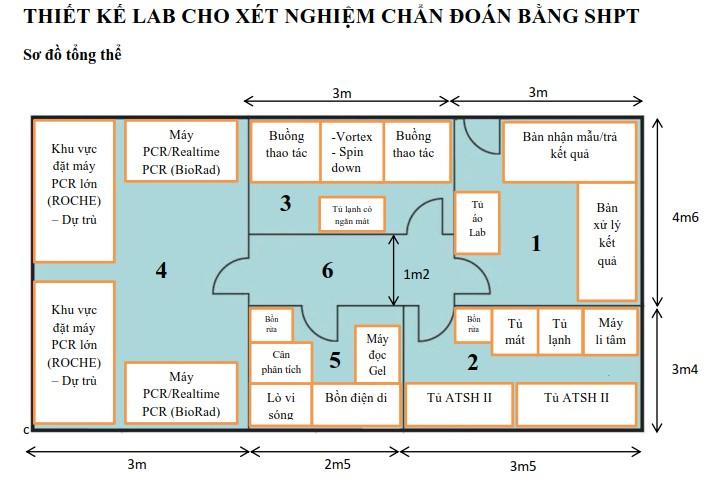 Thiết kế phòng xét nghiệm sinh học phân tử