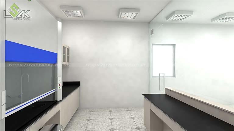 3d bố trí nội thất phòng thí nghiệm lab Apex Material industrial Viet Nam