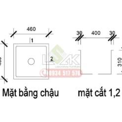 Bảng vẽ cad bàn thí nghiệm bát giác