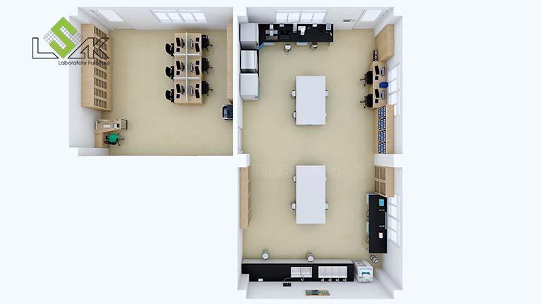 Thiết kế phòng R&D công ty tã giấy