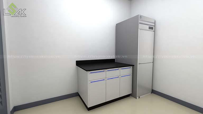 Bàn phòng vi sinh phòng sạch và tủ lạnh