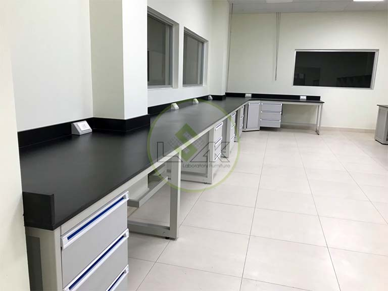 L Shape Wall Bench for Laboratory laboratory wall bench