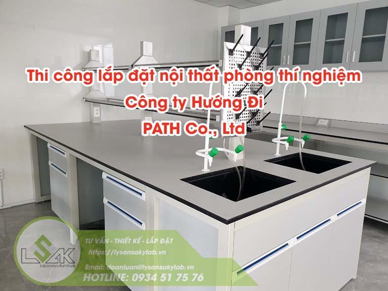 Thi công lắp đặt nội thất phòng thí nghiệm Công ty Path
