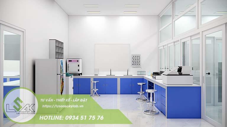 Thiết kế phòng chuẩn bị mẫu phòng thí nghiệm nhà máy sữa Lothamilk