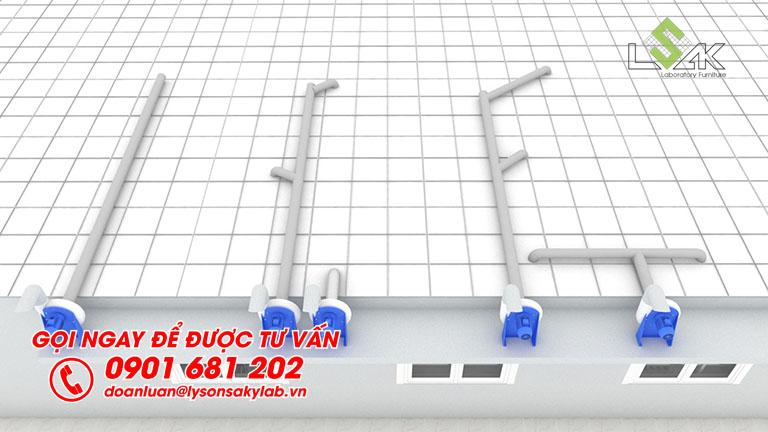 Quạt hút chịu axit phòng thí nghiệm lắp đặt sử dụng cho tủ hút khí độc và tay hút khí di động phòng lab