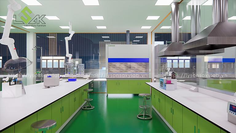 Khu chuẩn bị mẫu hóa lý thiết kế phòng thí nghiệm thuốc cho gia súc, gia cầm