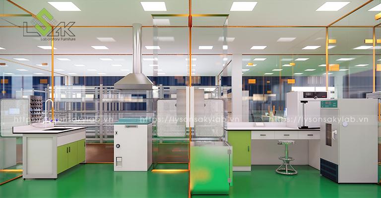 Phòng rửa dụng cụ, phòng ủ nhiễm khuẩn phòng thí nghiệm