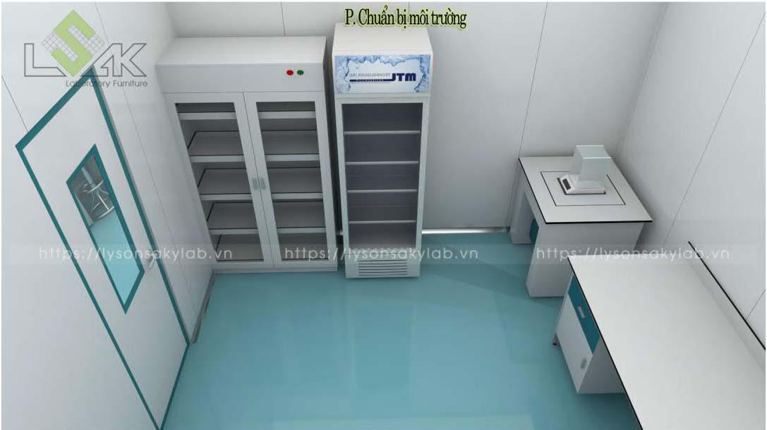 Tủ mát bảo quản mẫu phòng chuẩn bị môi trường