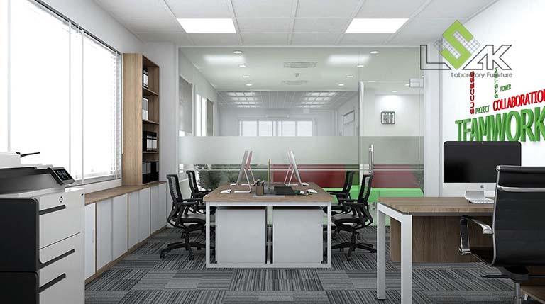 Thiết kế nội thất văn phòng làm việc nhà máy sản xuất gia vị thực phẩm