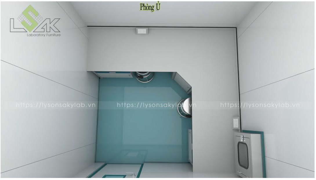 Phòng ủ nội thất phòng lab nhà máy sản xuất thuốc thú y - thủy sản UV Việt Nam