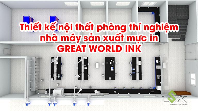 Thiết kế nội thất phòng thí nghiệm nhà máy sản xuất mực in GREAT WORLD INK