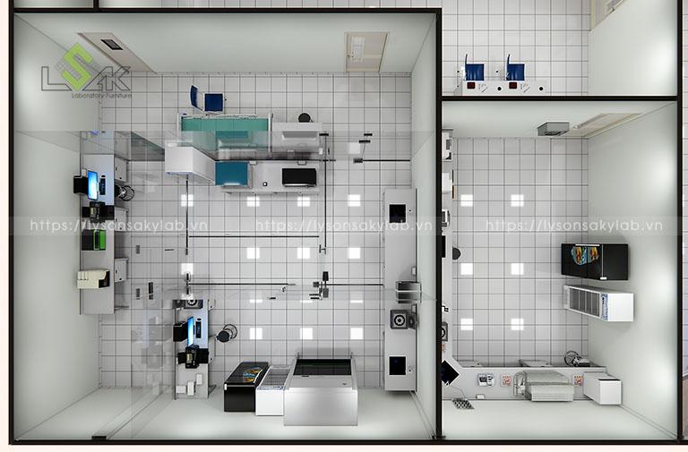 Thiết kế nội thất phòng xét nghiệm sinh học phân tử