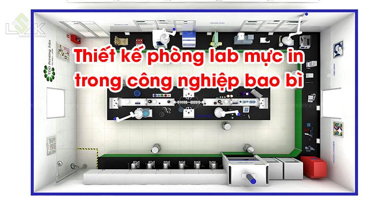 Thiết kế phòng lab mực in trong công nghiệp bao bì