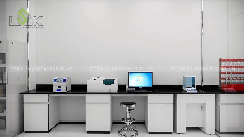 Bàn thí nghiệm áp tường phòng UV-VIS
