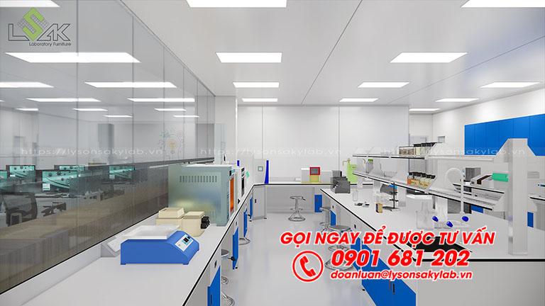 Thiết kế phòng R&D dược phẩm, mỹ phẩm
