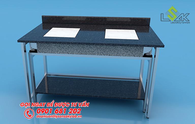 3D bàn cân chống rung khung inox