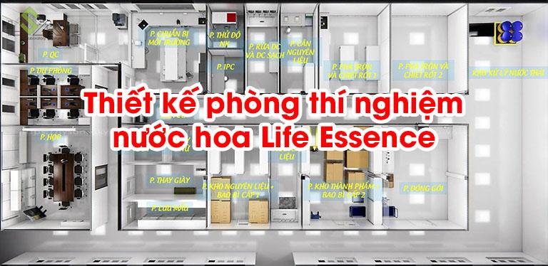 Thiết kế phòng thí nghiệm nước hoa Life Essence
