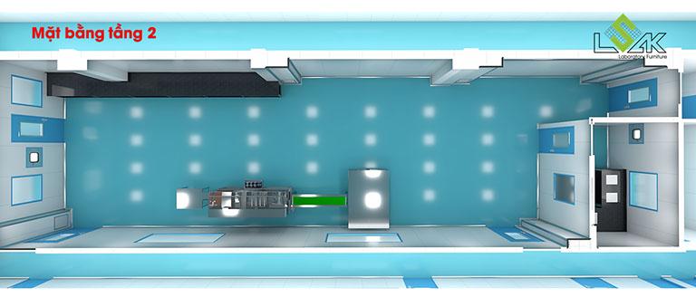 Thiết kế phòng lab dược phẩm Savipharm