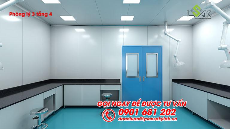 Thiết kế phòng lý phòng lab dược phẩm Savipharm