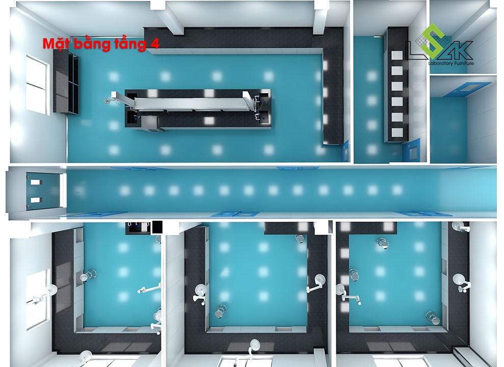 Thiết kế phòng lab dược phẩm Savi (Savipharm)