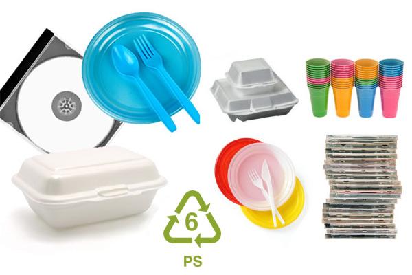 Số 6 – PS/PS-E (nhựa polystyrene/expanded polystyrene)
