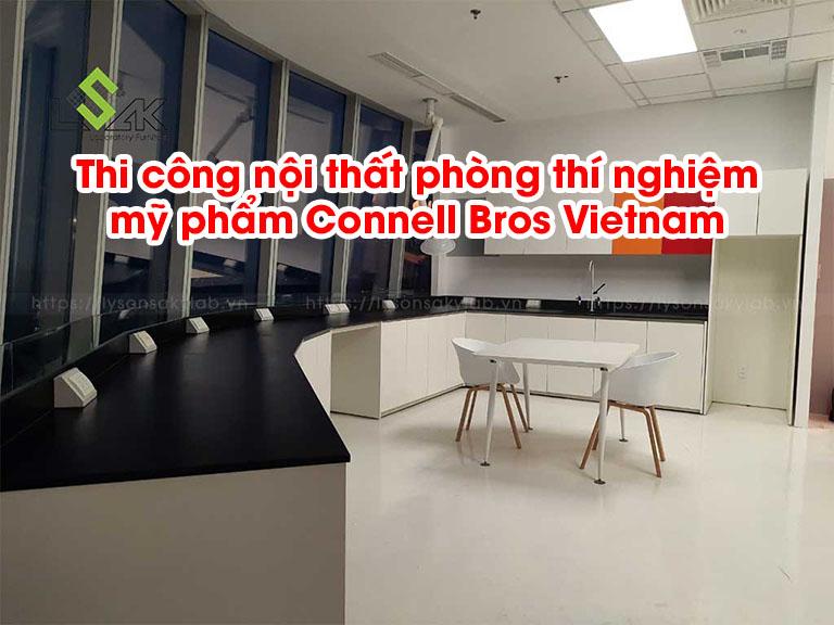 Thi công nội thất phòng thí nghiệm mỹ phẩm Connell Bros