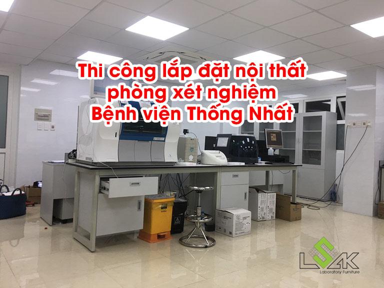Thi công lắp đặt nội thất phòng xét nghiệm Bệnh viện Thống Nhất