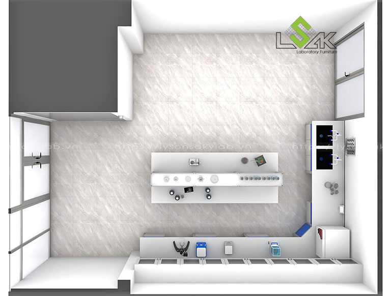 Thiết kế nội thất phòng lab Công ty Khoa Học Dinh Dưỡng Orgalife