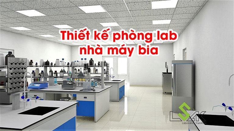Thiết kế phòng lab nhà máy bia
